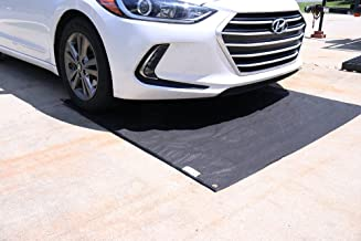 Car Containment Mat for Driveway by New Pig - Heavy Duty Absorbent Mat for Oil Leaking Vehicles - Protect Driveway and Garage Floor, 5' x 5' Oil Absorbent pad