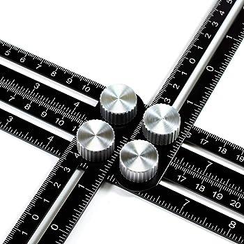 ANKACE Multi Angle Measuring Ruler, Premium Aluminum Alloy Template Tool/Layout Tool Measurement for Handymen, Builders, Craftsmen, DIYers