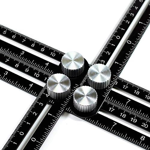 ANKACE Multi Angle Measuring Ruler, Premium Aluminum Alloy Template Tool/Layout Tool Measurement for Handymen, Builde...