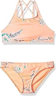 ROXY Girls' Big Darling Crop Top Swimsuit Set