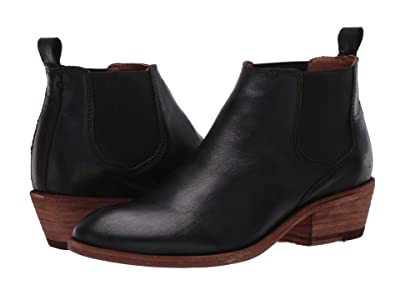 Frye Carson Chelsea (Black Full Grain Leather) Women