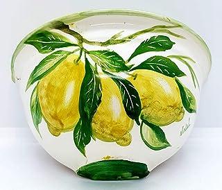 Vaso Da Muro Limoni Svuotatasche Ceramica Realizzato e Dipinto a Mano Le Ceramiche del Castello Nina Palomba Pezzo Unico D...