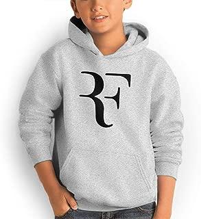 Youth Pocket Hooded Sweatshirt Roger Federer Personal Street Fashion Creation Gray