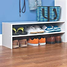 Woodstage Engineered Wood 6 Pair Stackable Shoe Rack for Home (MDF Wood, White Finish)