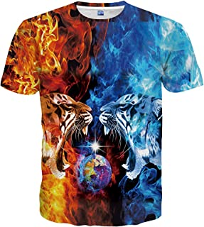 8ccef48e Neemanndy Unisex 3D Colorful Print Graphic Galaxy Tee Shirts for Men Women  and Teens