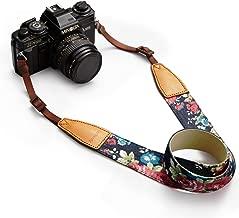BESTTRENDY Universal Camera Neck Shoulder Strap, Casual Vintage Neck Shoulder Camera Belt for All DSLR Camera Nikon/Canon/Sony/Olympus/Samsung/Pentax ETC/Olympus (Blue+Flower)