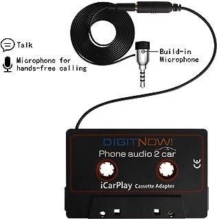 Adaptador de Cassette para Coche aux en iPods, teléfonos Inteligentes, Reproductores de MP3 o