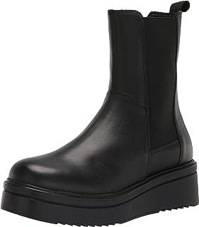 Steve Madden حذاء Clarisa Chelsea للنساء، جلد أسود، 6