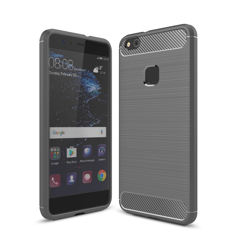 Huawei P10 Lite Funda iBetter Huawei P10 Lite Silicona Carcasa Buen sentido de la mano Bumper con Absorción de Impactos y Anti-Arañazos Case Cover para Huawei P10 Lite Smartphone (Gris): Amazon.es: Electrónica