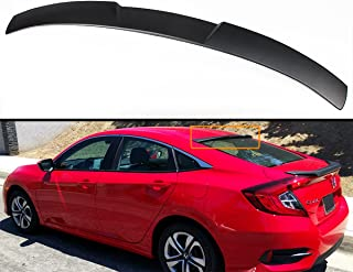 ECCPP ABS Spoiler Wing with Brake Light Unpainted Rear Trunk ...