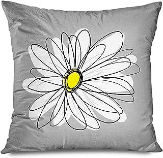 13 Minky Flower White Daisy Throw Pillow