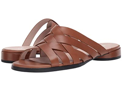 ECCO Flat Slide Sandal (Camel Calf Leather) Women