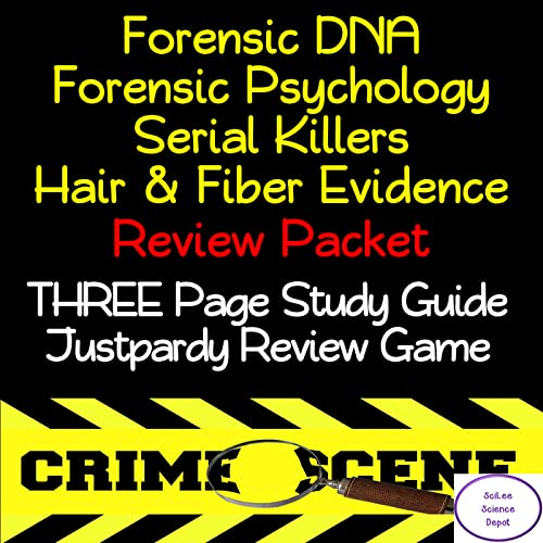 Forensics DNA, Forensics Psychology, Serial Killer, and Hair & Fiber NO PREP Review Packet