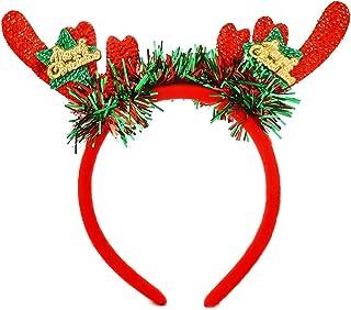 Christmas Headband for Women-Christmas Deer antler Headband Christmas Tree Headband Snowflake Headband Velvet Red green Ha...