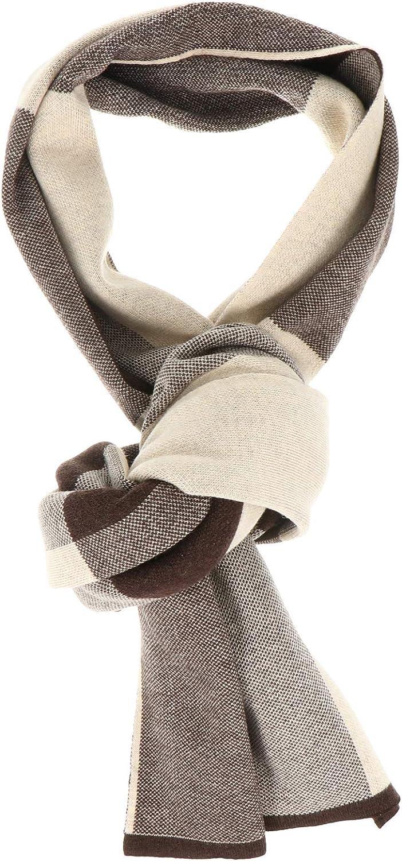 Abaodam Winter Warm Scarf Soft Wool Knitted Plaid Warm Scarf Fashion Man Scarf