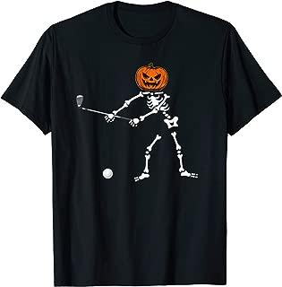 Golf Skeleton Pumpkin Halloween for Golfing Golfers T-Shirt