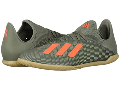 adidas Kids X 19.3 IN Soccer (Little Kid/Big Kid (Legacy Green/Solar Orange/Chalk White) Kids Shoes