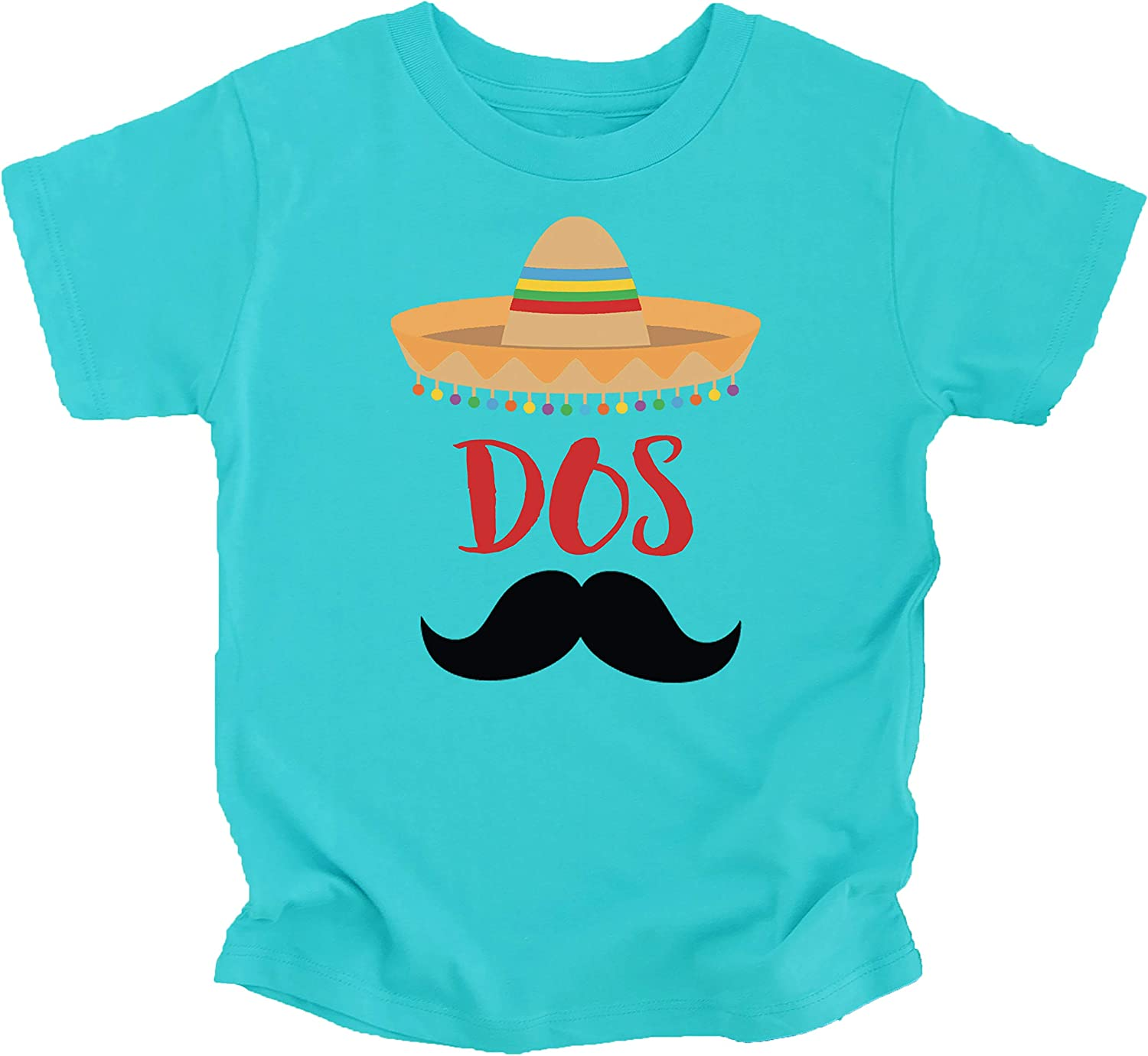 2nd Birthday Dos Shirt Fiesta Themed Second Birthday Sombrero Birthday Shirt Mustache Outfit for Baby Boys