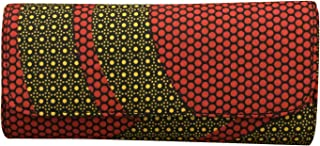 JBG SERVICES Red - Yellow Ankara African Print Clutch, African Purse, African Accessories Wallet - Wristlet, Ankara Fabric, African Print Clutch