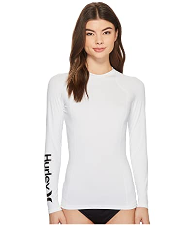 Hurley One and Only Long Sleeve Rashguard (White) Women