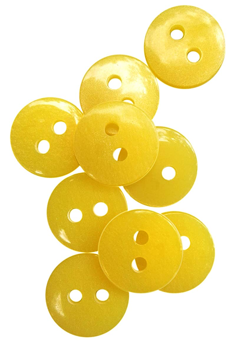 Nesha Design Components NDC Sunglow Yellow Sewing Craft Buttons 100 Pack