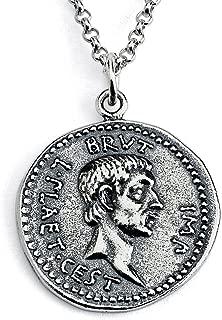 gold roman coin pendant