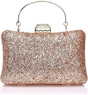 ZYWYB Bag for Women, Crystal Sparkly Evening Clutch Bag Rhinestone Glitter Clutch Purse (Color : E)