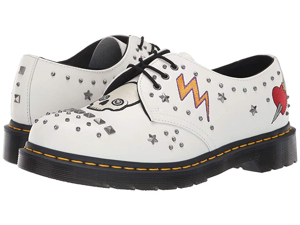 Dr. Martens 1461 Rock Roll (White Smooth) Shoes