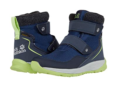 Jack Wolfskin Kids Polar Bear Texapore Mid VC (Toddler/Little Kid/Big Kid) (Blue/Lime) Kids Shoes