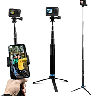 tr/ípode de palo de selfie ligero de fibra de carbono impermeable de 35.5 compatible con c/ámaras de acci/ón GoPro Hero 9 8 7 6 5 4 Palo de Selfie extensible para Gopro DJI OSMO SJCAM Con tr/ípode