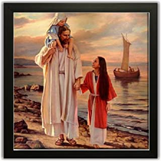 Paper Plane Design Exclusive Framed Wall Art Paintings of Religious Jesus Christ for Living Room Bedroom and Decoration Pu...