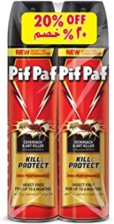 Pif Paf Cockroach and Ant Killer, Crawling Insect Killer Spray, 2x400ml, Pack of 2, With 20% Off