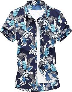 Boyland Men's Hawaiian Shirts Casual Short Sleeve Button Down Shirts Summer Holiday