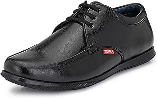 Zebra Men's Formal Black Leather Shoe