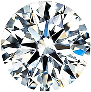 D Color VVS1, Excellent Cut Moissanite Stone Loose Diamond Gemstone with GRA Certificate for Jewelry Making (0.5)