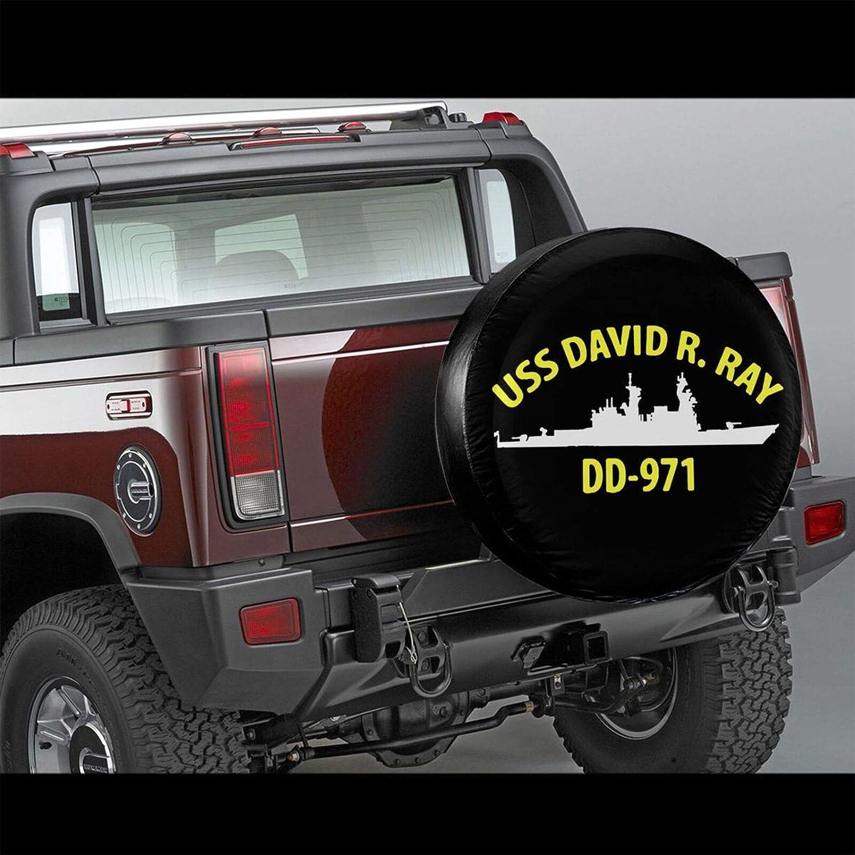 GLTDJESW USS David R Ray Dd-971 Spare Tire Wheel Cover Car Truck SUV Camper Fits for Jeep Wrangler Sahara