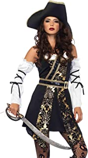 Leg Avenue Women's Black Sea Sexy Buccaneer Pirate Costume