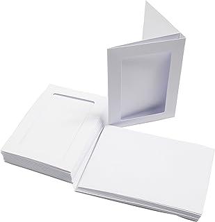 Cranberry Lote de 25 tarjetas postales A6, 300 g//m/² y sobres blancos C6, color blanco