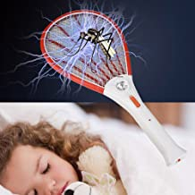 ?? AIUSD Clearance ??, Rechargeable LED Electric Fly Mosquito Swatter Bug Zapper Racket Insect killer