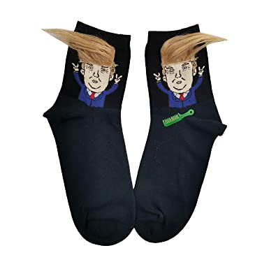 America Great Again Socks DONALD TRUMP HAIR SOCKS USA Flag Sock