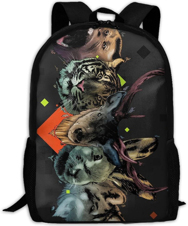 5d135c33ec54 Backpack Briefcase Laptop Hiking School Bags Wild Head Daypack ...