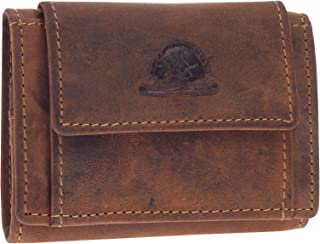 Greenburry Geldbörse Kartenetui Minibörse Kartenbörse 10x7cm klein Mini Leder braun Vintage antik Look