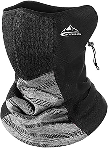 discount Neck discount Gaiter for Winter Face Bandana Mask with sale Filter Windproof Fleece Half Face Scarf Neck Cover for Cycling Hiking Trekking, with Drawstring Gray online