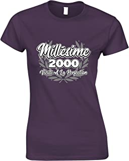 Tim And Ted French Womens Tshirt Millsime 2000 Vieilli La Perfection