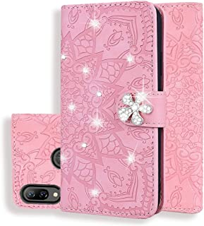 For Huawei P Smart+ 2019 / nova 3i Calf Pattern Diamond Mandala Double Folding Design Embossed Leather Case with Wallet & Holder & Card Slots New (Brown) Hopezs (Color : Pink)