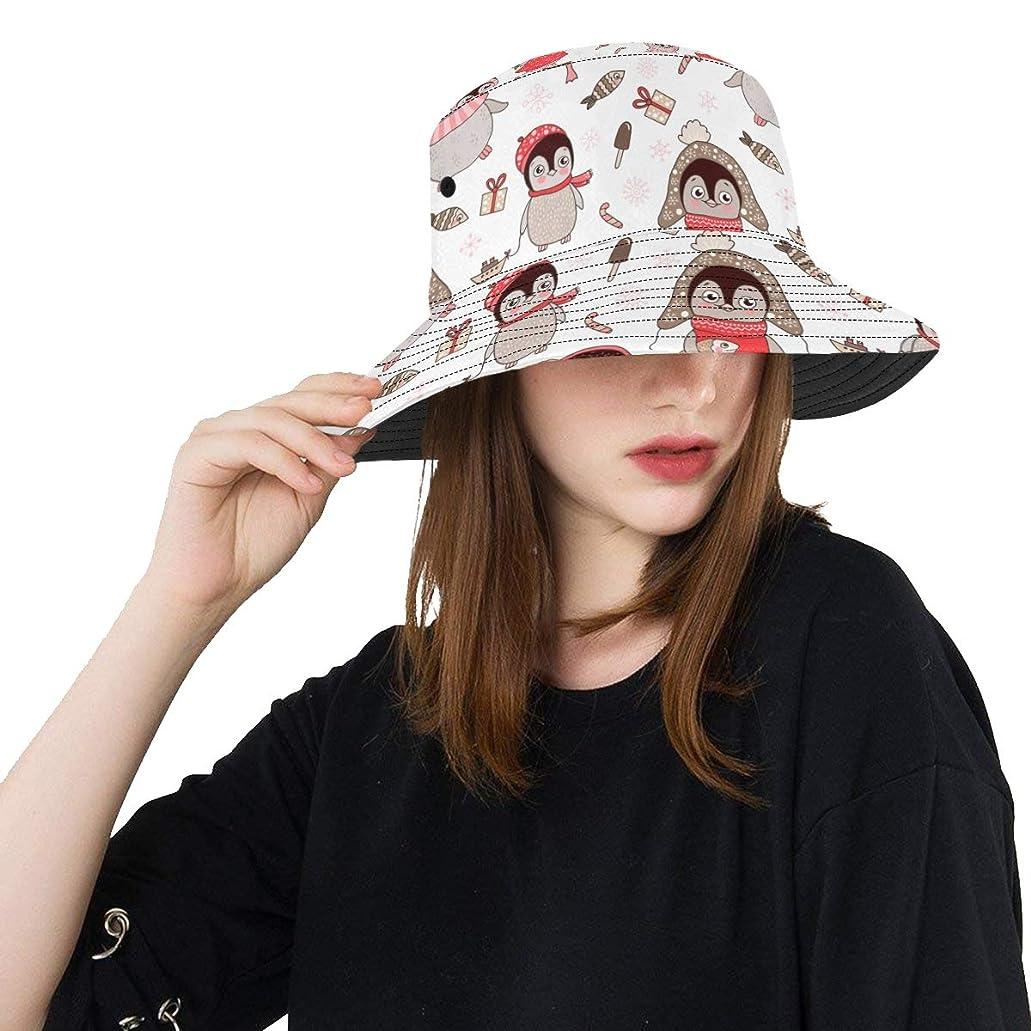 場合百科事典洞察力のあるHASHA Uvカット帽子 かわいいペンギンや帽子 バケットハット サンバイザー 日よけ 日焼け止め レディース 女子 綿 つば広 おしゃれ 折りたたみ 春夏 ストローハット アウトドア 旅行 トラベル 紫外線対策 遮光 吸汗速乾 小顔効果抜群