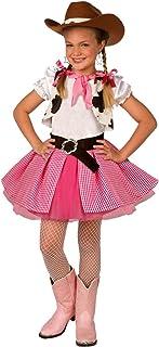 Morph Disfraz de Vaquera para niños Chicas Lindas, Rosa, Vestimenta de Rodeo Occidental, Pequeña (3-5 años)