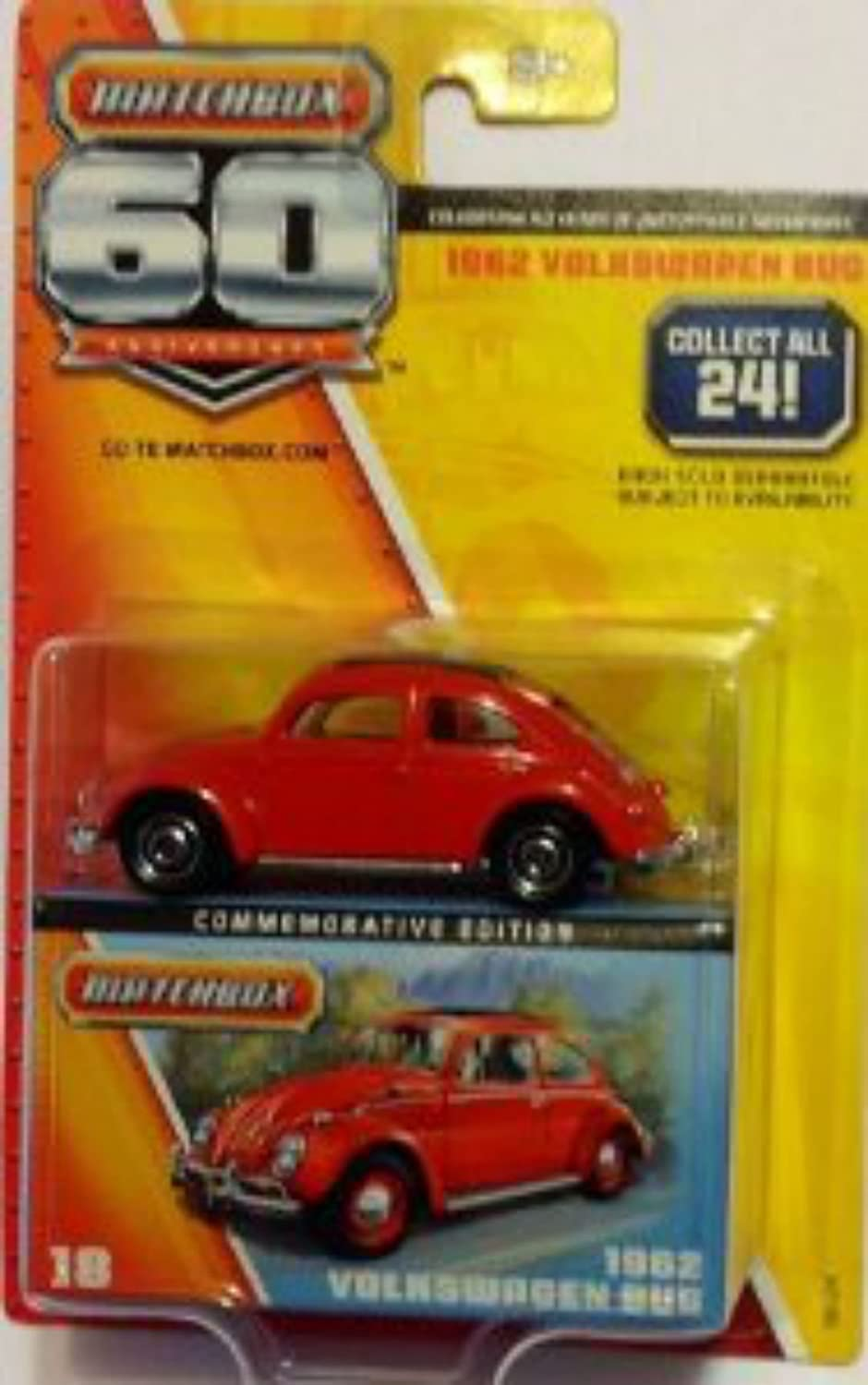 Matchbox 60th Anniversary 1962 Volkswagon Bug by Mattel