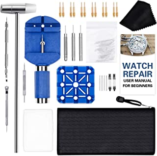 Watch Link Removal Tool Kit, Cridoz 51pcs Watch Repair Kit with Watch Adjustment Tool, Spring Bar Tool, Watch Pins and Oth...