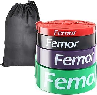 comprar comparacion FEMOR 4pcs Bandas Elásticas de Fitness, con 4 Niveles de Resistencia, de Látex Natural, para Entrenamiento de Fuerza, Cult...